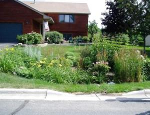 Rain Garden note Curb Cut