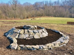 Ecologia Design herb spiral created for the Catoctin Creek Nature Center's butterfly garden