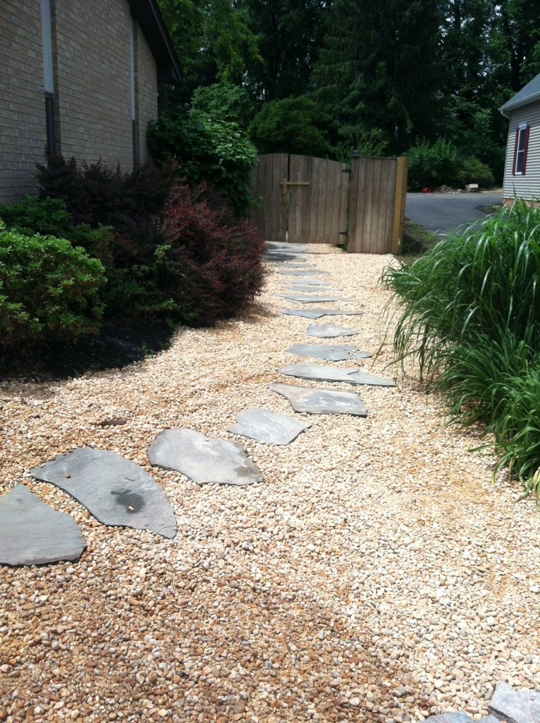 Permeable Walkway over French Drain